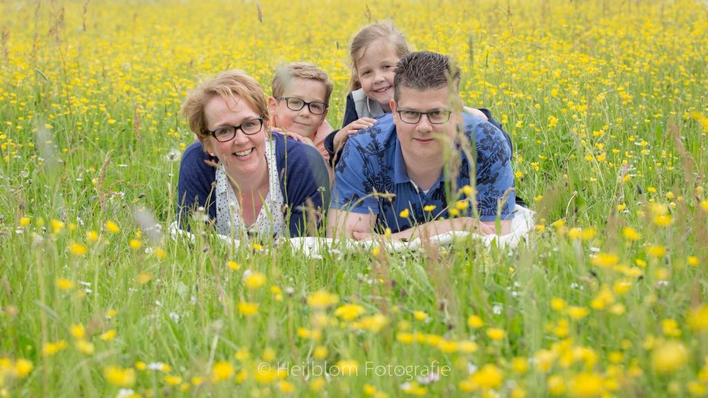HEIJBLOM FOTOGRAFIE-Familiefotografie-Biesbosch-gezin-tussen-de-boterbloemen